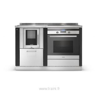 CUISINIERE A BOIS MIXTE OKOALPIN 60+65 PERTINGER - 6 kW