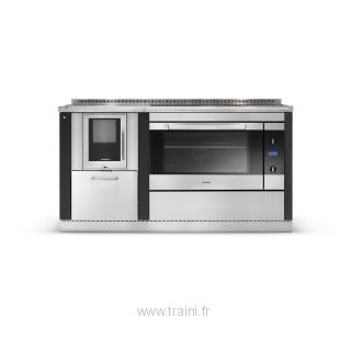CUISINIERE A BOIS MIXTE OKOALPIN 60+95 PERTINGER - 6 kW