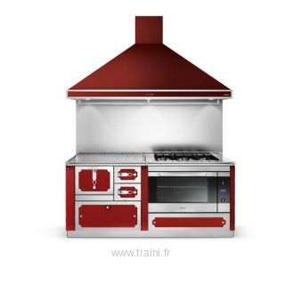 CUISINIERE A BOIS MIXTE OKOALPIN 90+95 PERTINGER - 8 kW