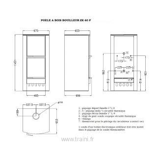 poele a bois bouilleur zk 60 f 20 kw traini. Black Bedroom Furniture Sets. Home Design Ideas