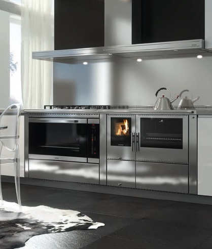 cuisiniere a bois mixte okoalpin 100 90 pertinger 8 5 kw. Black Bedroom Furniture Sets. Home Design Ideas