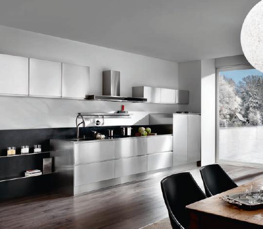 a 4 meuble en acier plan de travail et vier traini. Black Bedroom Furniture Sets. Home Design Ideas